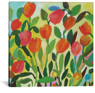 """iCanvas Tulip Garden"""" By Kim Parker Gallery-Wrapped Canvas Print - 12"""" x 12"""" x 0.75"""""""