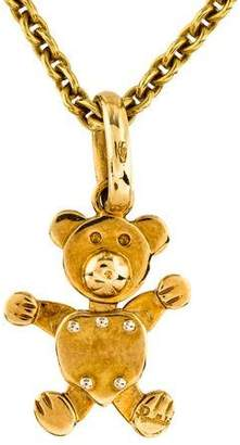Pomellato 18K Teddy Bear Pendant Necklace