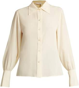 Chloé Point-collar silk blouse