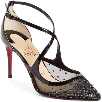 Christian Louboutin Twistissima Embellished Pointy Toe Pump