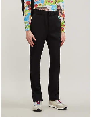 Prada Belted regular-fit stretch-jersey trousers