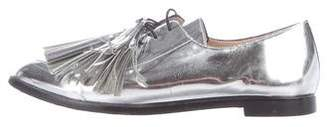 Loeffler Randall Pointed-Toe Metallic Oxfords