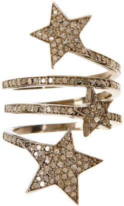 Adornia Fine Jewelry Silver Diamond Celestial Wrap Ring