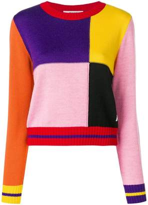 MSGM colour-block sweater