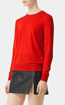Burberry Women's Heritage-Checked Crewneck Sweater - Red