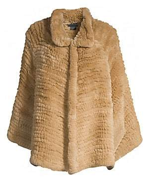Adrienne Landau Women's Rex Rabbit Fur Cape
