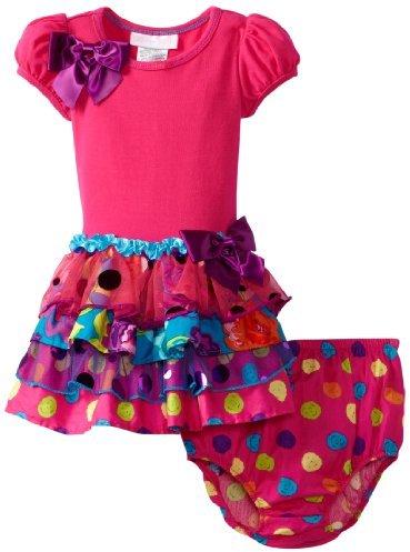 Bonnie Baby Baby-Girls Infant Sparkle Tiered Dress