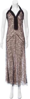 Galliano Sleeveless Lace Dress