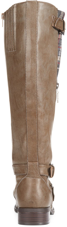 G by GUESS Women's Hertle Tall Shaft Wide Calf Riding Boots 8