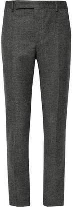 Saint Laurent Slim-Fit Basketweave Wool Suit Trousers