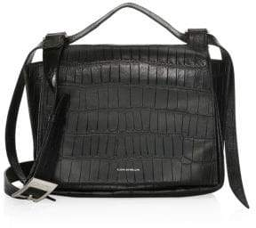 Elena Ghisellini Medium Leather Flap Shoulder Bag