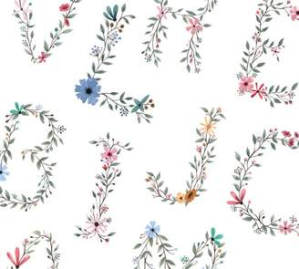 Pottery Barn Floral Letter Wall Decal