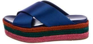 Miu Miu Platform Wedge Sandals w/ Tags