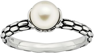 Stacks & Stones Sterling Silver Freshwater Cultured Pearl Stack Ring