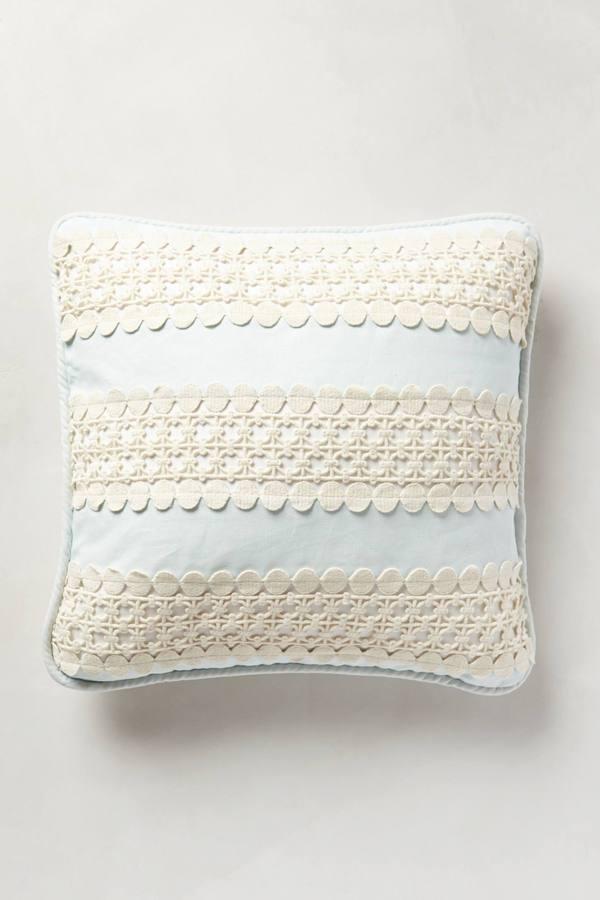 Anthropologie Crochet Trim Pillow