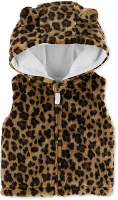 Carter's Baby Girls Faux-Fur Animal-Print Vest