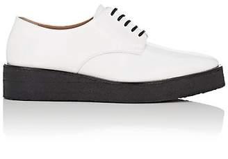 Calvin Klein Women's Spazzolato Leather Platform Oxfords
