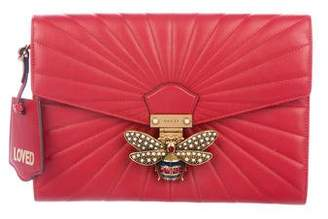 c2f94211f65 Gucci 2017 Queen Margaret Quilted Clutch