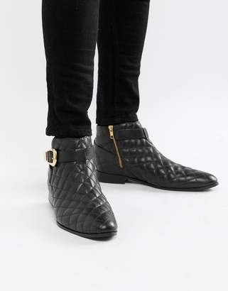 House of Hounds House Of Hounds Harpy chelsea boots in black quilted leather