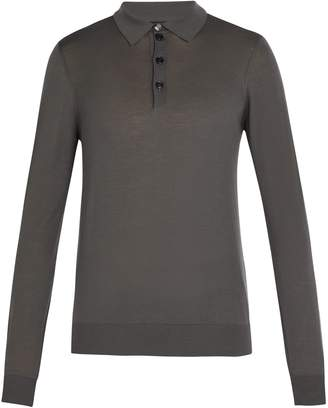 Giorgio Armani Fine-knit wool polo shirt