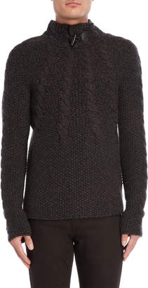 Rob-ert Robert Comstock Brown Cashmere Toggle Sweater