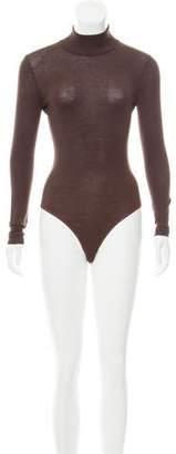Alaia Virgin Wool Turtleneck Bodysuit