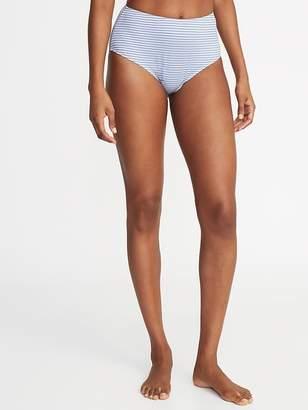 Old Navy High-Waist Textured-Stripe Swim Bottoms for Women