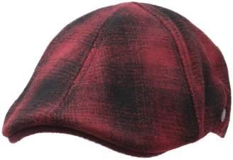 Stetson Texas Wool Check Flat Cap Size L