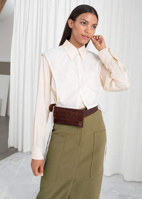 And other stories Embroidered Button Down Bib