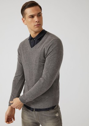 Emporio Armani V-Neck Pure Cashmere Sweater