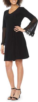 MSK Long Sleeve Lace Shift Dress