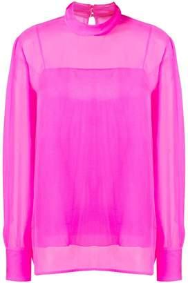 3c796d3fb22 Emilio Pucci Pink High-Neck Silk Top