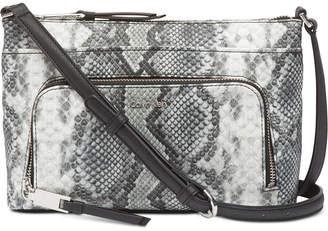 Calvin Klein Lily Snakeskin Leather Crossbody