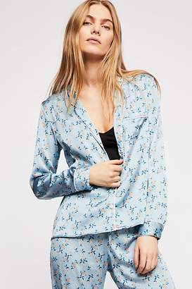 For Love & Lemons Skivvies By Spring Bloom Piped PJ Shirt