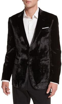 Paul Smith Bayard Liquid Velvet Two-Button Jacket $1,125 thestylecure.com