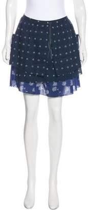 Band Of Outsiders Printed Mini Skirt