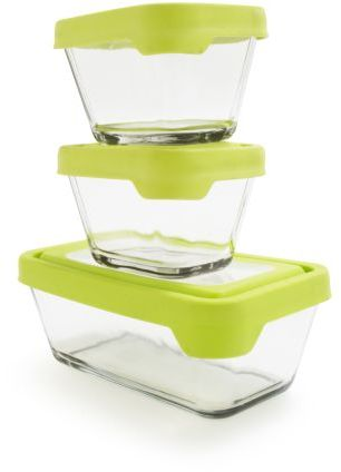 Anchor Hocking Rectangular Glass Storage Containers, Set of 3
