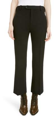 Chloé Stretch Stretch Wool Crop Flare Pants