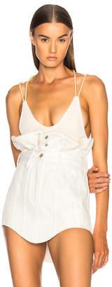 Y/Project for FWRD Velvet Bodysuit