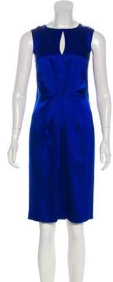 St. John Satin Sheath Dress Satin Sheath Dress