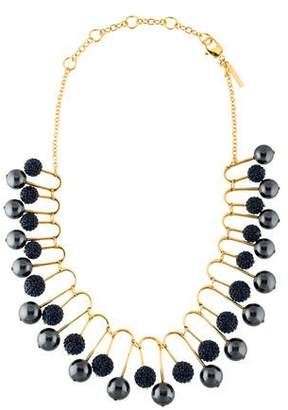 Lele Sadoughi Pavé Beaded Fan Necklace