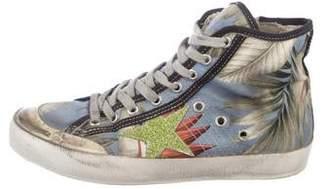 Golden Goose Canvas Francy High-Top Sneakers