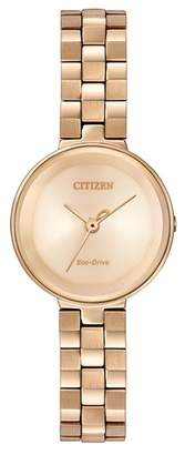 Citizen Women's Eco-Drive Quartz Stainless Steel Casual Watch, 25mm