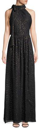 Shoshanna Kenmare Metallic Dot Column Gown