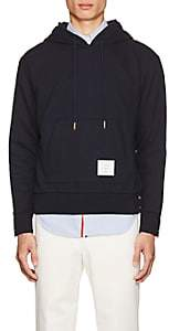 Thom Browne Men's Striped-Back Cotton French Terry Hoodie-Navy