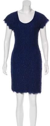 Diane von Furstenberg Wanda Short Sleeve Lace Dress