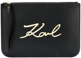 Karl Lagerfeld K/Signature pouch bag