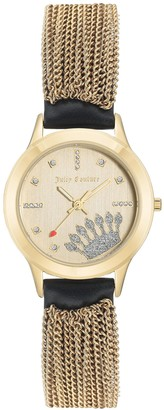 Juicy Couture Tassel Watch with Black Strap