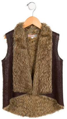 Jacket Girls' Faux Fur Vest