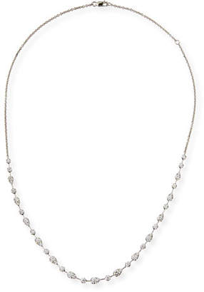 Memoire Fancy Brilliant-Cut Diamond Station Necklace
